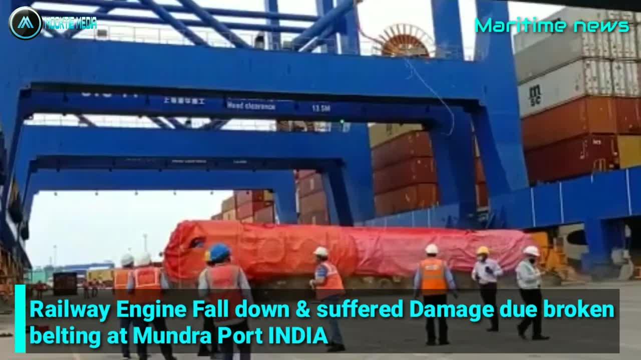FAIL Cranes incident | Railway engine Falling down broken at Mundra Port